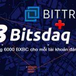 Đăng ký sàn giao dịch Bitsdaq nhận miễn phí 6200 coin sàn BXBC