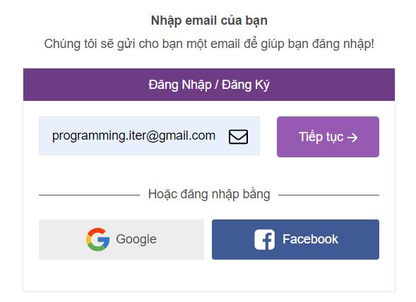Điền địa chỉ email đăng nhập Remitano