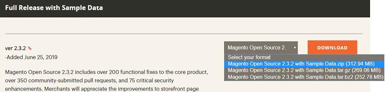 hướng dẫn cài đặt magento 2 - tải magento 2
