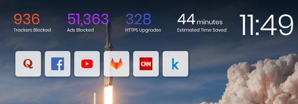 Thống kế số liệu khóa quảng cáo của Brave