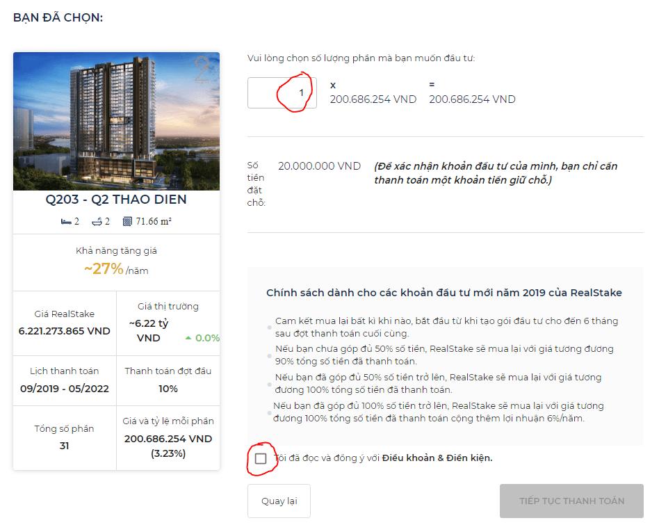 Thông tin chi tiết căn hộ bạn đã chọn để đầu tư