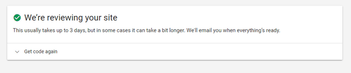 chờ xét duyệt google adsense