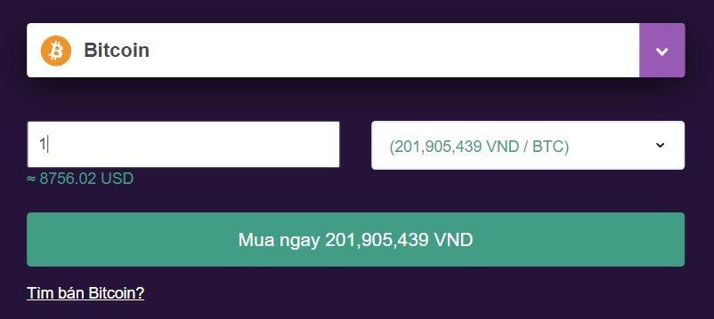 Giá mua 1 Bitcoin trên Remitano