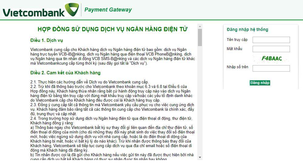 Đăng nhập bằng tài khoản internet banking - Hướng dẫn sử dụng Bảo Kim