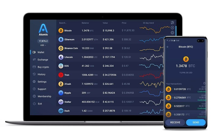 Vi Atomic - Top ví trữ Bitcoin tốt nhất