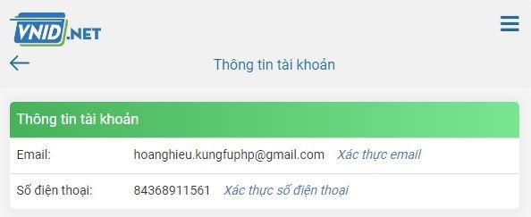 xác thực email và số điện thoại bảo kim
