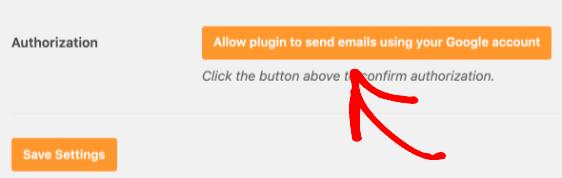 Cho phép plugin gửi email bằng Gmail