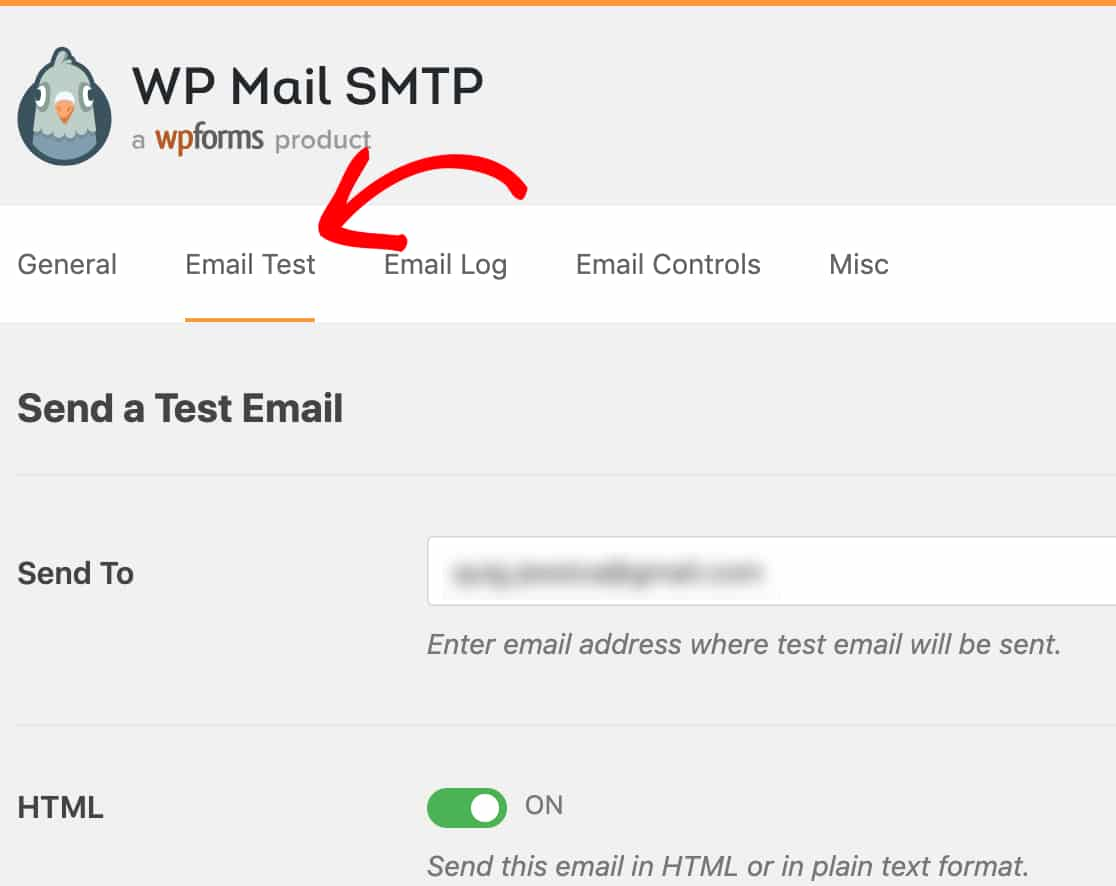Mở tab Kiểm tra Email trong WP Mail SMTP