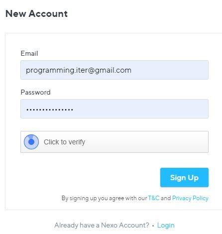đăng ký tài khoản nexo - nexo là gì