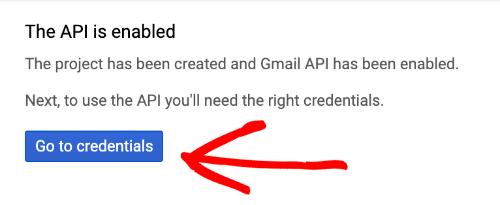 API Gmail được bật