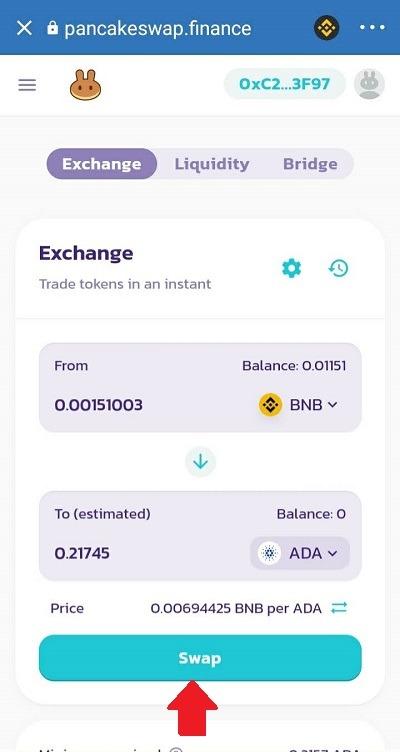 Chuyển đồi đồng BNB sang đồng ADA - binance smart chain là gì