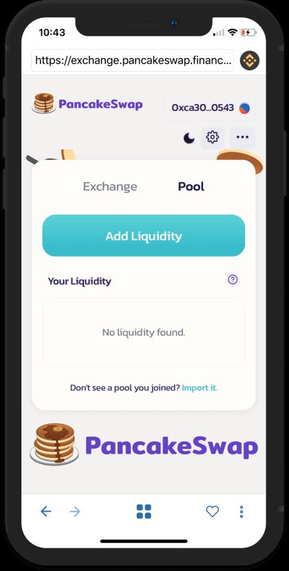 Chọn Add Liquidity để tiến hành cung cấp thanh khoản