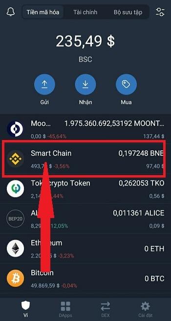 Lưu ý nạp coin thì nhớ lấy địa chỉ là Smart Chain mới đúng nhé