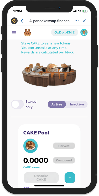 Giao diện Pools