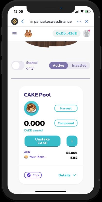 giao diện pool pancakeswap - hướng dẫn sử dụng pancakeswap đơn giản