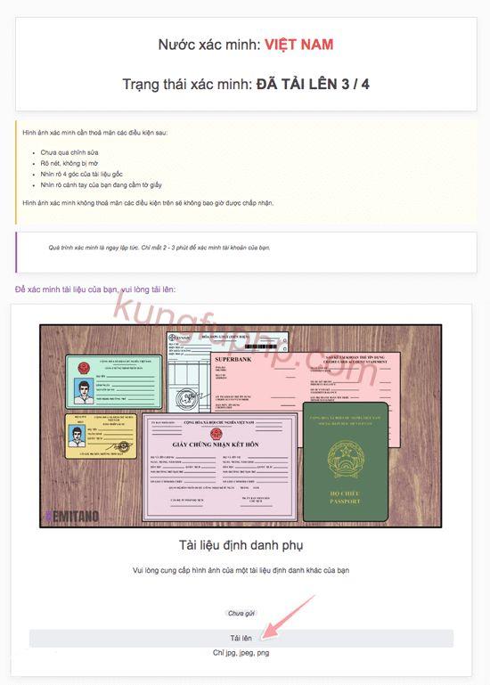 Xác minh tài liệu remitano - Hướng dẫn xác minh tài khoản Remitano
