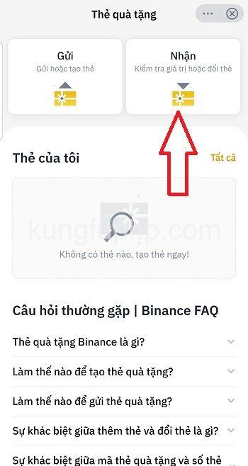 Nhận thẻ quà tặng Binance - Hướng dẫn sử dụng Thẻ Quà Tặng Binance