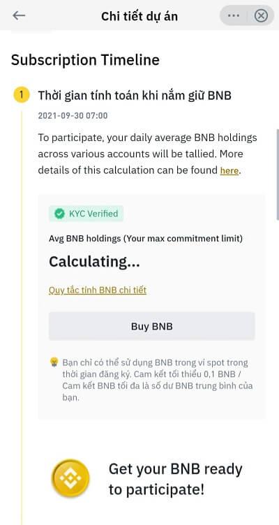 Hướng dẫn mua Binance IEO trên điện thoại