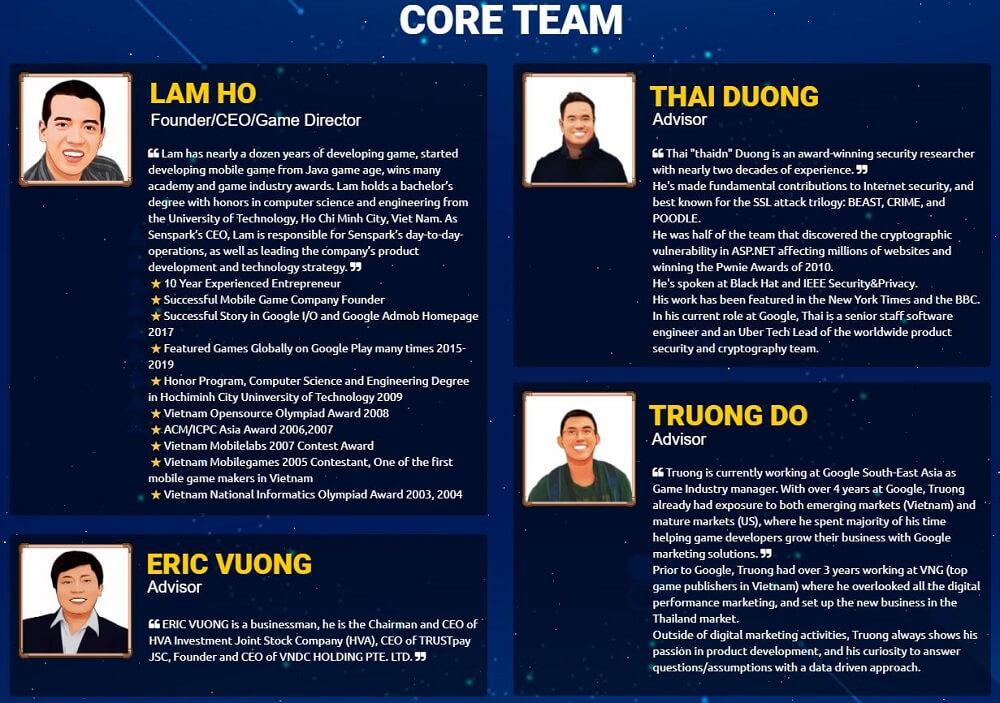 Đội ngũ phát triển cốt lõi của Bomb Crypto