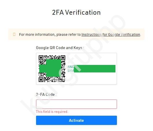 Xác thực 2Fa Google