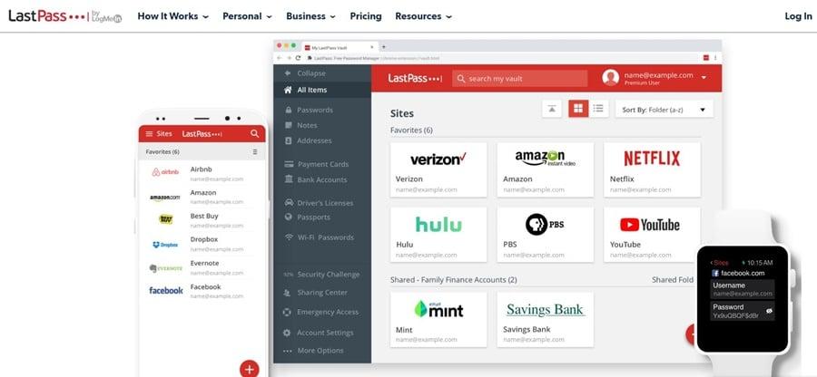 Phần mềm quản lý mật khẩu Lastpass